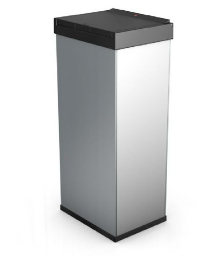 Large Touch Box Bin Silver Grey (60 litre)